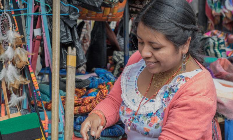 Indiánské trhy v Otavalo