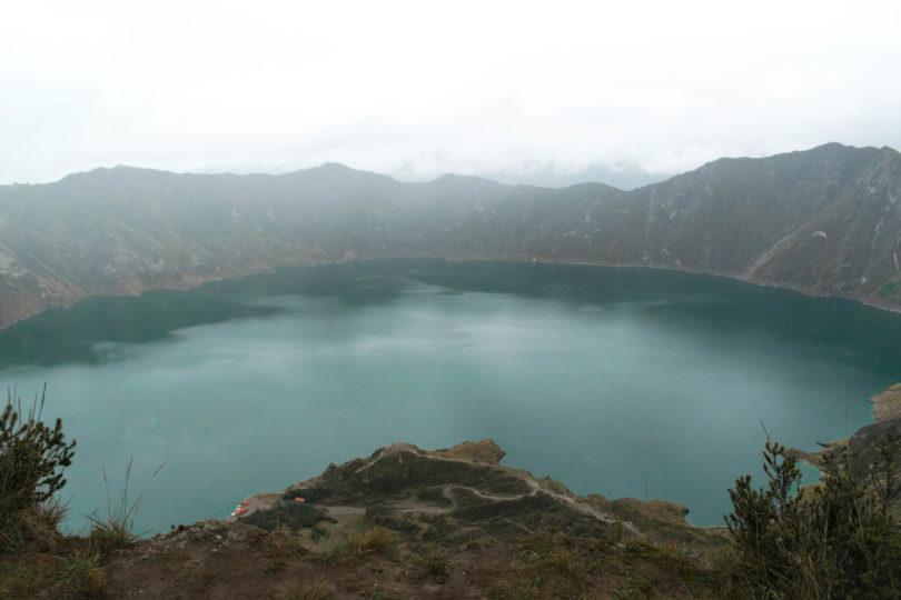 Jezero Quilotoa v Andách
